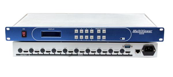 SDI/HDMI9画面4K分割器