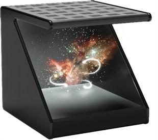 360度倒金字塔全息展柜 四面投影成像玻璃展柜 悬空金字塔