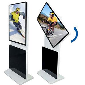 立式旋转广告机-横竖两用落地高清广告机