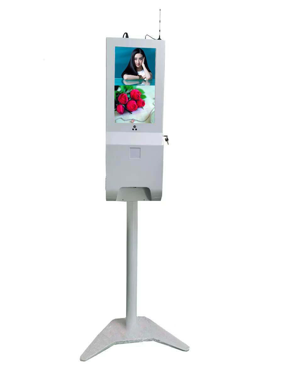 人脸识别测外线体温器考勤门禁一体机智能摄像头立式广告机
